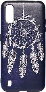 جراب خلفي رفيع وصلب ثلاثي الابعاد لموبايل سامسونج جالاكسي A01 من بوتر - متعدد الالوان