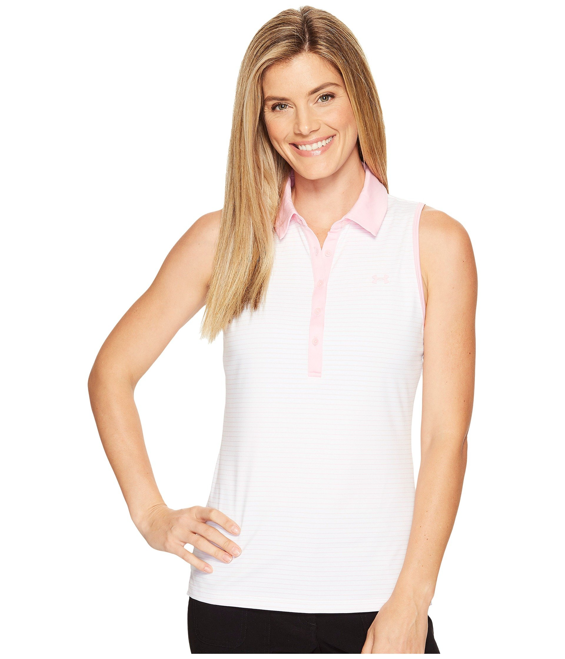 Camiseta Tipo Polo para Mujer Under Armour Golf Zinger Sleeveless Stripe Polo  + Under Armour en VeoyCompro.net