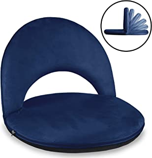Best Choice Products Multipurpose Adjustable Floor Chair Cushioned Recliner w/Microfiber Machine-Washable Cover - Blue