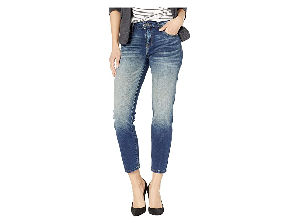 KUT from the Kloth Catherine Ankle Straight Leg Jeans in Loudly w/ Dark Stone Base Wash (Loudly w/ Dark Stone Base Wash) Women