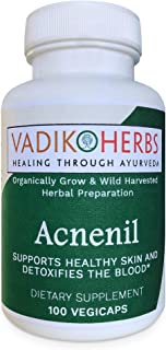 Certified Organic Vadik Herbs Acnenil Herbal Dietary Supplement | Blood Purifying, Promotes Circulation and Proper Functio...