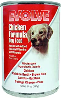 EVOLVE Canned Chicken Wet Dog Food (14-oz, case of 12)
