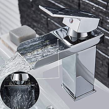 Grifo monomando de lavabo cascada modelo Orqu/ídea DP Grifer/ía