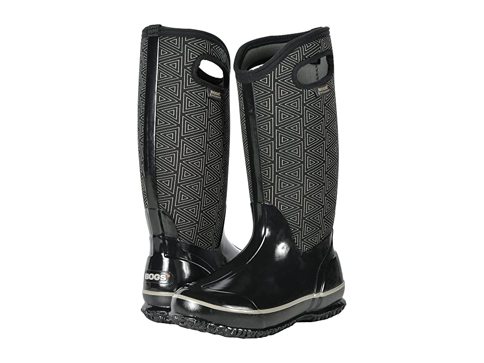 Bogs Classic Tall (Black Multi Triangles) Women