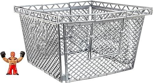 WWE Mini Figure and Steel Cage - Rey Mysterio