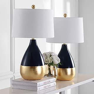 Safavieh Kingship Bedside Lamps, Navy/Gold