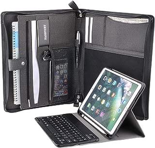 iPad Keyboard Portfolio, Organizer Zipper Portfolio Folio Case with Bluetooth Keyboard for 10.2 inch iPad 2019