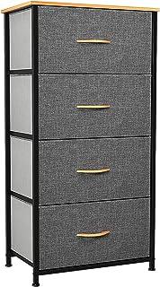 YITAHOME Commode 4 tiroirs, Commode Chambre Adulte en Tissu, Meuble de Rangement vêtements, Cadre Stable en Métal, Poignée...