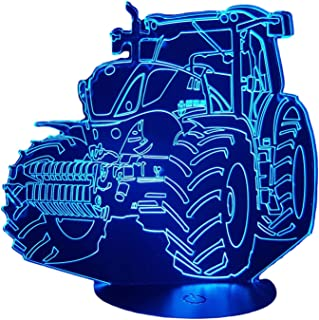 NEW HOLLAND, Lampada illusione 3D con LED - 7 colori.