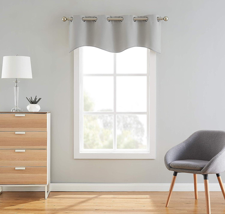 Nicole - Industry No. 1 Scalloped Valance Grommet Panel Bla Curtain Premium Arlington Mall