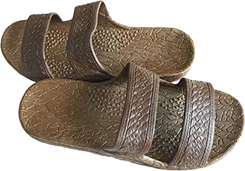 Pali Hawaii Classic Jesus Sandal (Brown, 6)