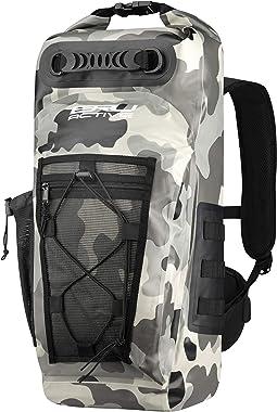 BRU Active Premium Dry Backpack Waterproof - 35L Waterproof Backpack - Sizes Zippers, Drawstring, Heavy Duty Adjustable Straps Kayaking, Boating, Hiking, Water Sports, Fishing