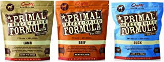 Primal Freeze Dried Nuggets for Dogs Mixed Variety Pack 14oz (Beef, Duck, Lamb)