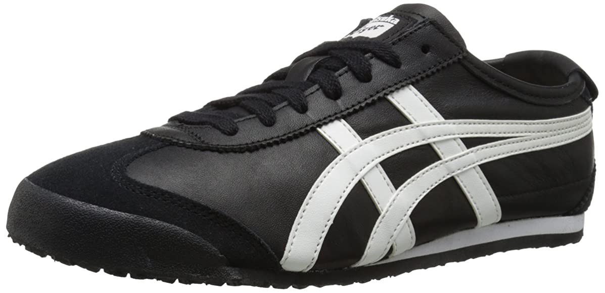 不完全な十年検証(10.5 UK, Black/White) - Onitsuka Tiger -Mexico 66 Vulc SU Sneaker