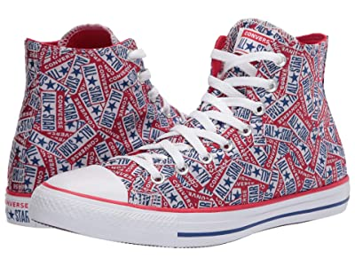 Converse Chuck Taylor All Star Logo Play Hi (University Red/White/Rush Blue) Athletic Shoes