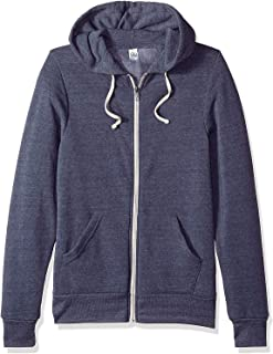 Alternative Blue Womens US Size Small S Zip Front Hooded Sweater