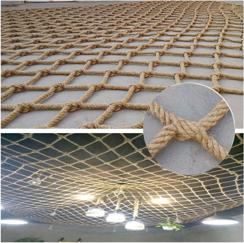 MBTY Rope Netting Heavy Duty Outdoor Railing Decor Hemp Rope Cargo Net Child Playground Climbing Netting Stair Fence Kids Swing Hammock Safety Net (Size : 16m(319ft))
