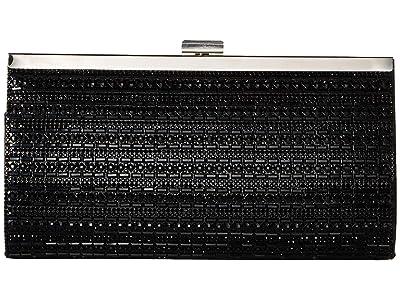 Jessica McClintock Laura Frame Clutch (Black) Clutch Handbags