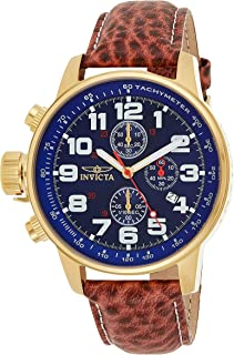 INVICTA Men's Force 3329 Leather Japanese Chronograph Fashion Watch