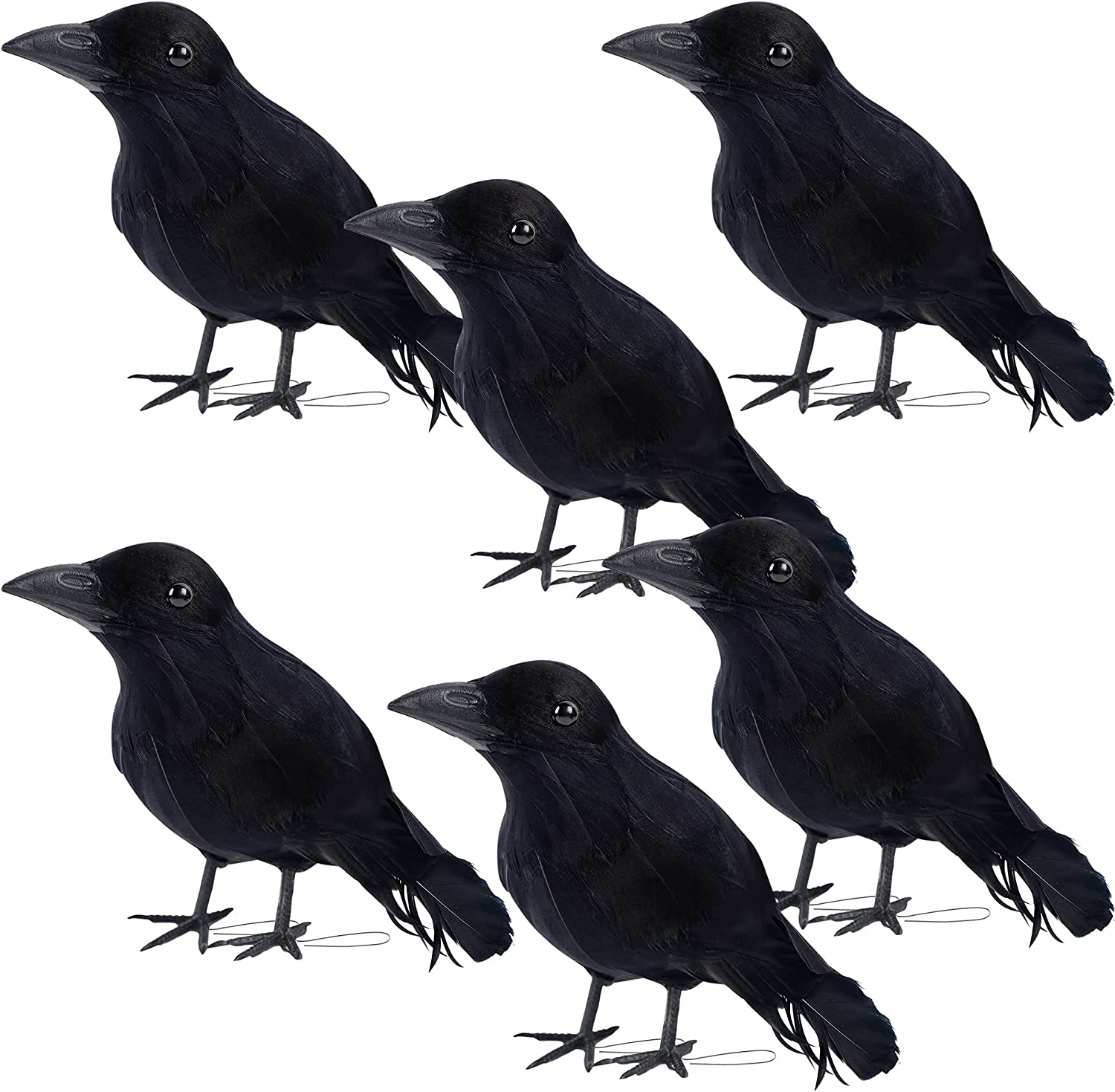 DR.DUDU Outlet sale feature Halloween Crow Decorations 67% OFF of fixed price 6 Lifesize Handmade Art Pack