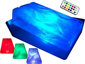 """King Luge - The HUGE""""No Mess"""" Dual-Track Ice Luge Mold (w/LED Tech Package)"""