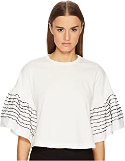 See by Chloe - T-Shirt with Embellished Sleeves