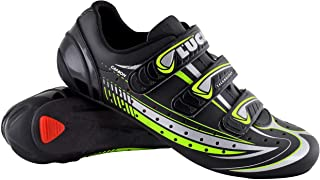 LUCK Mega Road Cycling Shoe with Carbon Sole and Triple Velcro Strap