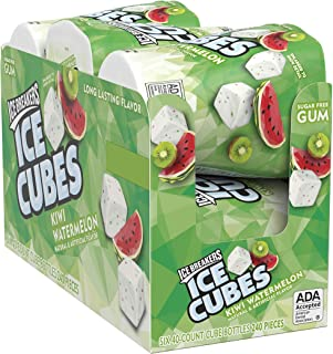 Ice Breakers Ice Cubes Sugar Free Chewing Gum with Xylitol, Kiwi Watermelon, 40 Piece (Pack of 6)