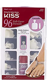 Kiss Products 96 Full Cover Toenails, 0.2 Pound