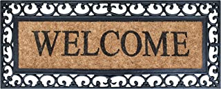 """A1 Home Collections RC2004WEL A1HC Myla Welcome Entry Double Doormat, 17.7"""" L x 47.25"""" W, 17.7""""X47.25"""""""