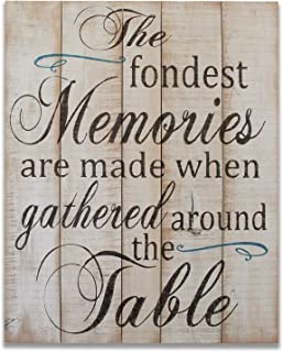 The Fondest Memories Are Made When Gathered Around The Table Wall decor Thanksgiving Christmas
