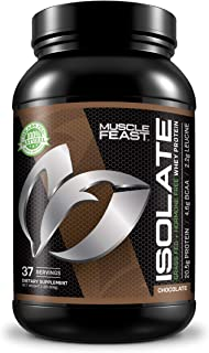 Grass Fed Whey Protein Isolate by Muscle Feast   All Natural and Hormone Free (2lb, Chocolate)