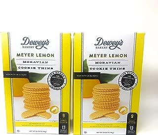 Deweys Bakery Meyer Lemon Moravian Cookie Thins - Pack of 2 Boxes - 28 oz per Box