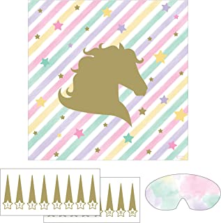 """Creative Converting Sparkle Unicorn Game, 1 ct, Multicolor, 17"""" x 17"""""""