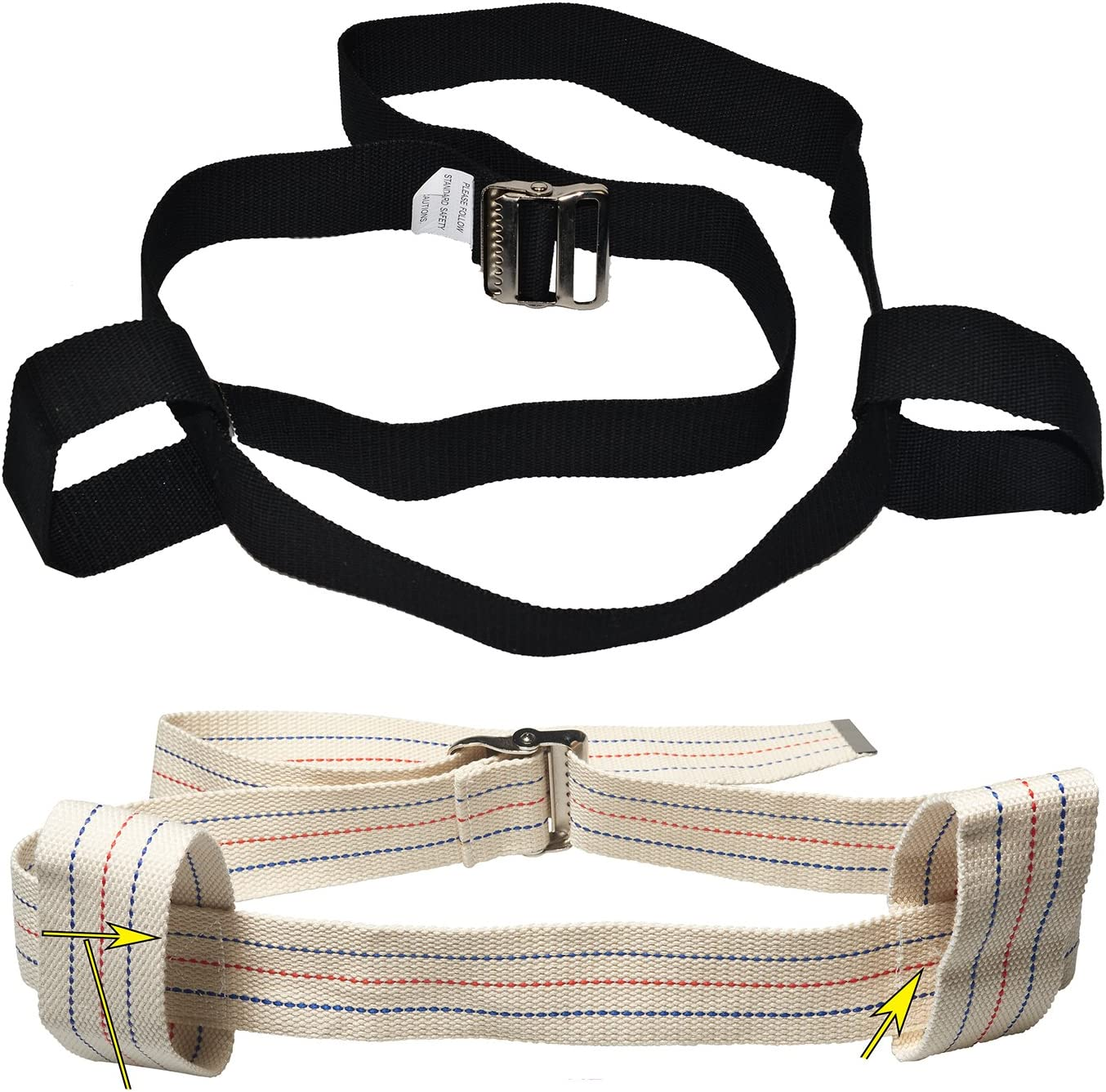 Black 72 mart inches Physical Therapy Gait Popular brand in the world with Handles Belt 2 Looped