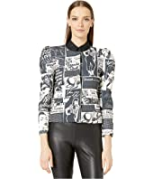 Boutique Moschino - Newspaper Print Jacket
