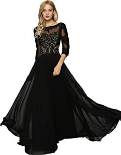 Meier Women's Lace Appliqued Mother of The Bride Evening Dress