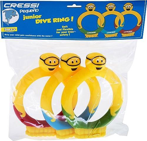 Cressi - Juguetes de Entrenamiento para niños para Piscina y Juego | Juego de Anillos y Palos