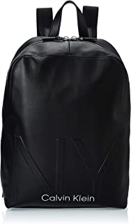 Calvin Klein - Shaped Round Backpack, Shoppers y bolsos de hombro Hombre, Negro (Black), 0.1x0.1x0.1 cm (W x H L)