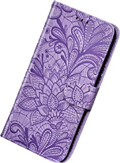 Herbests Kompatibel med Samsung Galaxy A8 2018 fodral läder plånbok mobilfodral 3D spets henna mandala blomma mönster väsk...