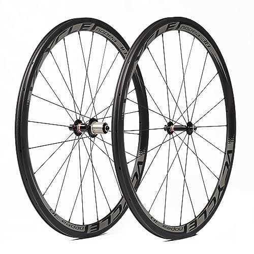 VCYCLE Nopea 700C Bicicleta de Carretera Juego de Ruedas Carbono Remachador 38mm Shimano o Sram 8