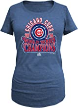 5th & Ocean Chicago Cubs Womens 2016 World Series Champs Blue Circle Arch Scoop Neck T-Shirt