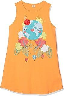 Tuc Tuc Vestido Punto Naranja Niña World Map Niñas