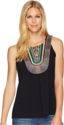 Wrangler Sleeveless Top with Multicolor Applique