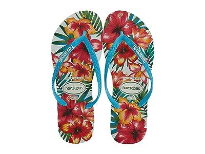 Havaianas Slim Hibisco Sandal (White) Women