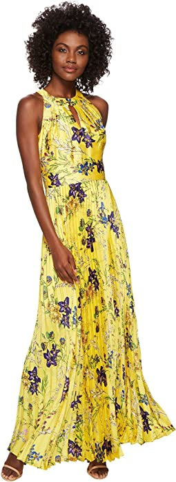 Tahari by ASL - Floral Pleated Gown