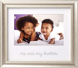 Lil Peach Me and My Brother Keepsake Frame, Display Sibling Love, Big Brother Big Sister Gifts, Silver