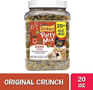 Friskies Party Mix Adult Cat Treats Canisters – Real Chicken #1 Ingredient