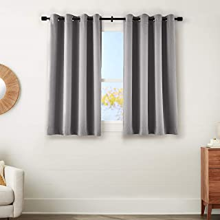 amazonbasics 99% Room Darkening Theatre Grade Heavyweight Window Panel with Grommets and Thermal Insulated, Noise Reducing...