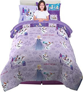 Franco Kids Bedding Super Soft Comforter and Sheet Set with Bonus Sham, 5 Piece Twin Size, Disney Frozen